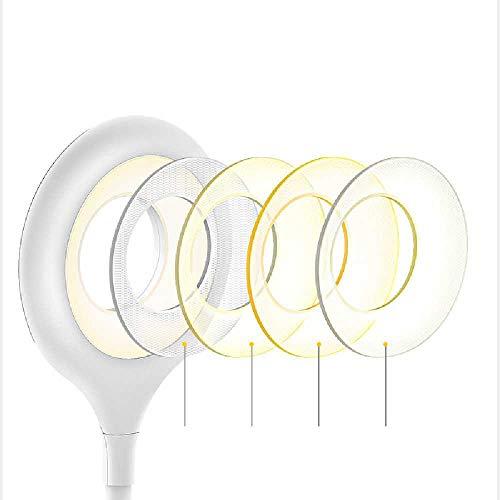 N\C Lámpara de lectura lámpara fija, lámpara de mesa LED regulable lámpara de mesa, protección ocular lámpara fija recargable, lámpara de oficina (blanco)