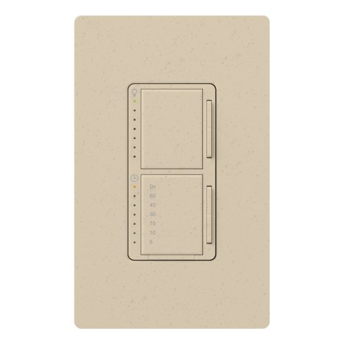 Lutron MA-L3T251-ST Maestro 300 Watt Single Pole Dimmer And Timer Switch, Stone