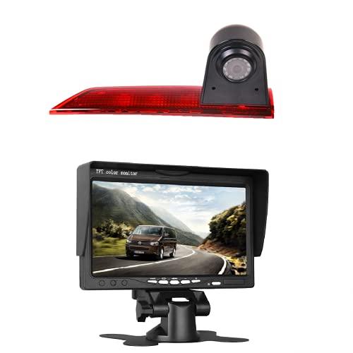 "Rückfahrkamera Transporter Kamera an 3. Bremsleuchte Dachkante Einparkhilfe für Transporter Ford Transit Custom V362 2012-2019 +7.0\"" Zoll DVD Monitor TFT Bildschirm LKW KFZ LCD Display"