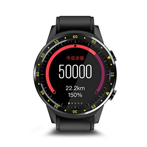 Milnnare Reloj Inteligente Bluetooth GPS Frecuencia cardíaca SIM Soporte Sport Smart Watch para Android iOS - Negro