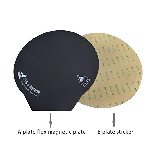 HUANRUOBAIHUO 3D heat Hot bed Magnetic Round Sticker Tape 200/220/240mm Flex Plate A+B 3D Printer parts Heated Platform Reusable Film Paper 3D Printer Parts (Size : 240)