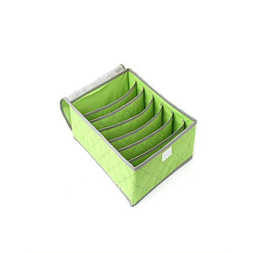 XUMIN 7 Grid Bamboe Houtskool Partitie Board Opbergdoos met Flip Cover Stofdichte Verdikking BH Ondergoed Sokken Afwerking Case Panty Leggings Container Houder