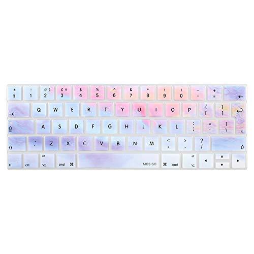 MOSISO Copertura della Pelle della Tastiera Compatibile con 2019/2018/2017/2016 MacBook PRO 13 Pollici/MacBook PRO 15 Pollici (A2159/A1989/A1706/A1990/A1707 con Touch Bar),Nuvole Colorate