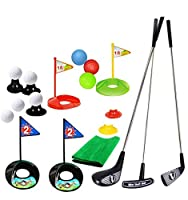 SOWOFA Golf Pro。 おもちゃの遊びセットゴルファー3のゴルフロッド&1から6歳の子供のための22の練習色のボール