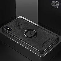 ケースIphone Xs Max、布の質感 人気 tpu ソフトフレーム ステルスサポート機能 子鹿 携帯ケース、耐衝撃 衝撃吸収 薄型 おしゃれ かわいい キラキラ 全面保護 qi 充電 ワイヤレス充電 ユニーク カバー、可愛い 面白い クリスタル フラッシュ ケース、耐汚れ 滑り防止 反指紋 反塵 超軽量 カバー、by beautycatcher - 黑
