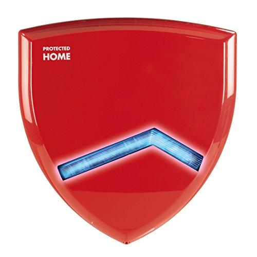 Xavax Außensirene für Funk Alarmanlage FeelSafe (Außenalarm mit Blitzlicht, Erweiterung zum FeelSafe System) rot