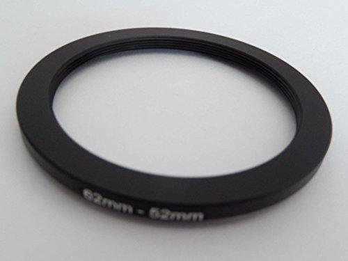vhbw Anillo Adaptador Step Down, Filtro Adaptador 62mm-52mm Negro para cámaras Sony DT 18-135 mm D3,5-5,6 Sam (SAL-18135)