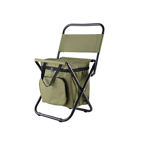 Nadalan Outdoor Folding Chairs Fishing Backpack Chair/Portable Camping Stool/Foldable Chair with Double Layer Oxford Fabric Cooler Bag for Fishing/Beach/Camping/House/Outing