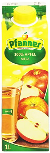 Pfanner - Succo 100% Mele, Senza Zuccheri Aggiunti - 1000 ml