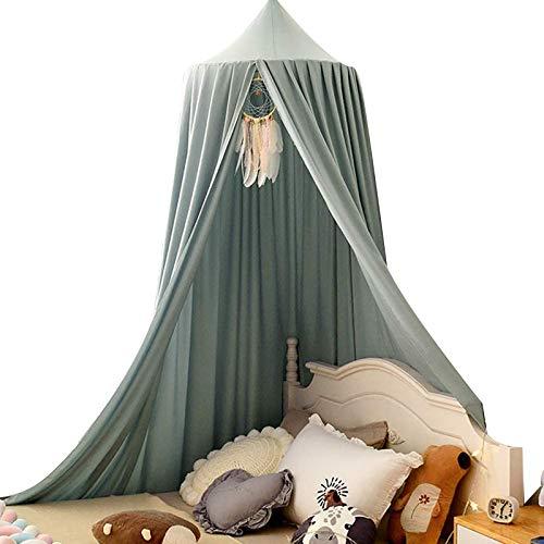 Betthimmel für Kinder, Kuppelmückennetz, Spielzelt, Kinderzimmer, Dekoration, zum Aufhängen, Grau / Grün, 1 Set