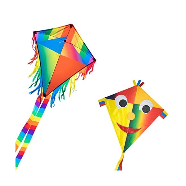 CIM Single line kite - Maya Eddy RED - for children from 3 years onwards - 65x72cm - incl. kite line and kite tails
