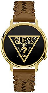 Guess Fashion Watch for Unisex, Stainless Steel Case, Black Dial, Analog -V1001M3