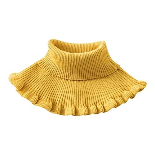 Ztengyu-Cuello de imitación Cuello Falso Desmontable de Las señoras, Volantes a Prueba de Viento Dickey, Cuello de Cuello de tortubre Cuello de Punto Falso Accesorios de Ropa (Color : 6EE406688 Y)