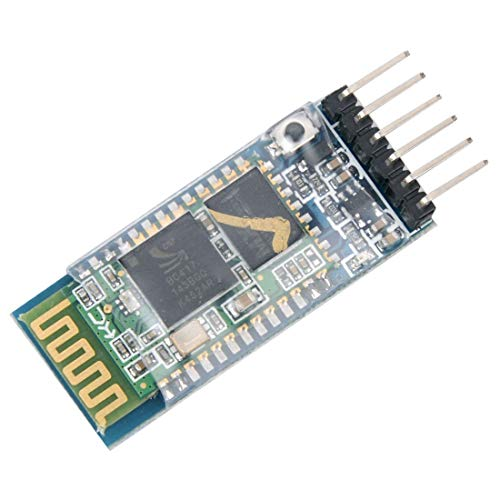 HiLetgo HC-05 Wireless Bluetooth RF Transceiver Master Slave Integrated Bluetooth Module 6 Pin Wireless Serial Port Communication BT Module for Arduino