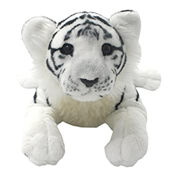 TAGLN The Jungle Animals Stuffed Plush Toys Tiger Leopard Panther Lioness Pillows  White Tiger 16 Inch