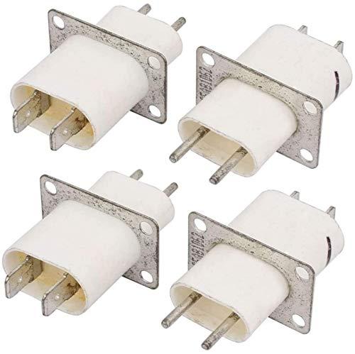 DUDDP Pieza de reparación Reparación Parte Inicio Electrónico Microondas Horno Magnetron Filamento Terminal Sockets 4 PCS Accesorios del Horno de microondas