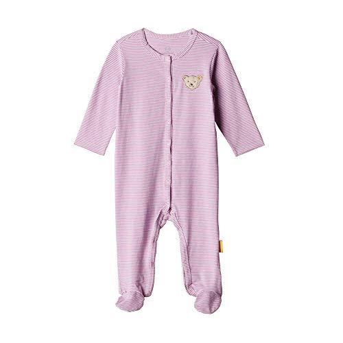 Steiff Baby - Mädchen Strampler , Weiß (BRIGHT WHITE 1000) , 56 (Herstellergröße:56)