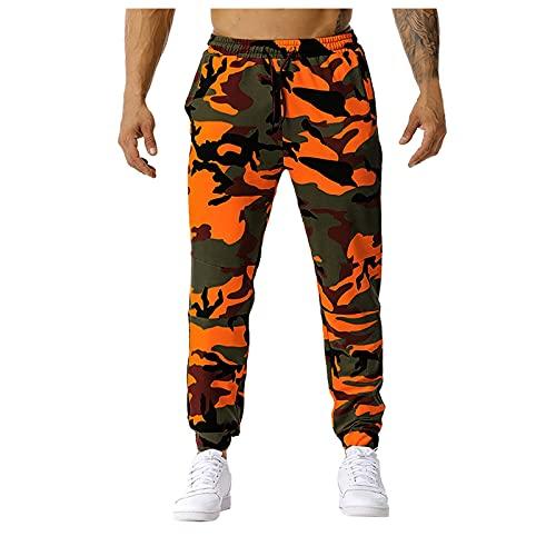 D-Rings Herren Slim Mid-Waist Schnür Freizeithose Camouflage Sporthose Herren Hose Jogger Cargo Hosen Camouflage Sporthose
