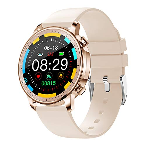 LWP New V23 Pro Men's Women's Womenwatch Smartwatch Full Touch Fitness Tracker IP67 Presión Arterial Impermeable Hombre Smartwatch para iOS Android,B