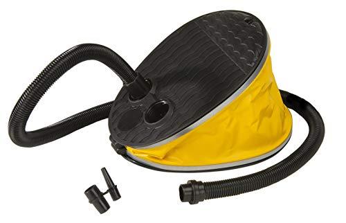 Jobe Luftpumpe Fußpumpe Pumpe Blasebalg 2l f Schlauchboot Tube Zelt Luftmatratze (Schwarz) N0