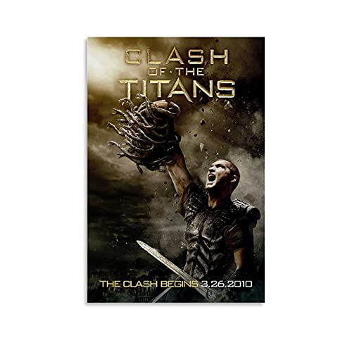 Clash of The Titans Movie Cover Poster Canvas Art Poster and Mural Picture Printing Modern Home Bedroom Office Decoration Poster 08x12inch(20x30cm)