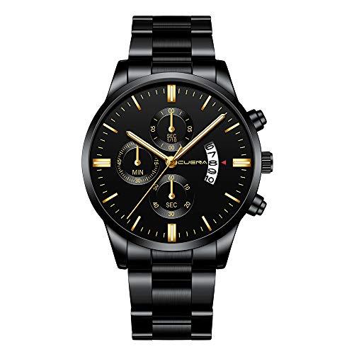 Skang Herren Uhren Quartz, Wasserdicht, Business Uhren Kalender, Stoppuhr, Mit Legierung Armband, Casual Sport Design Armbanduhren(one Size,A)