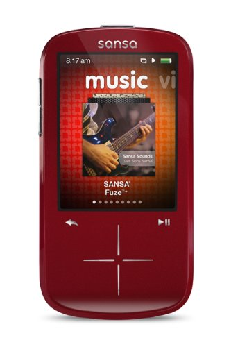 Sandisk Sansa Fuze 4GB 4GB Rot - MP3-/MP4-Player (4 GB, FM-Radio, Rot)