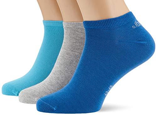 s.Oliver Socks S24001 Calcetines cortos, Azul (Star Sapphire 5543), 43/46 EU (Pack de 3) para Hombre