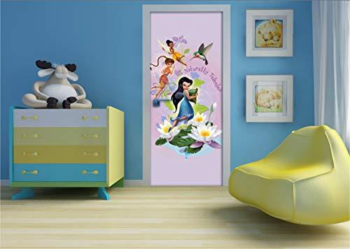 AG Design FTDv 0268 Fairies Disney Feen, Papier Fototapete Kinderzimmer - 90x202 cm - 1 Teil, Papier, multicolor, 0,1 x 90 x 202 cm