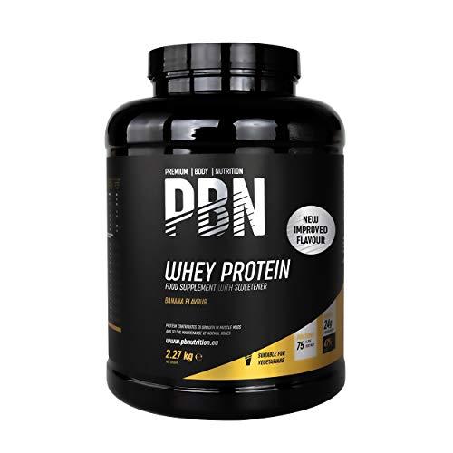 PBN - Proteína de suero de leche en polvo, 2,27 kg (sabor plátano)