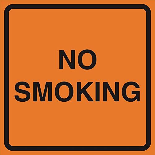 Geen roken Oranje Bouw Werkzone Job Site Let op Road Straat Tekenen Commerciële Nieuwigheid Tekenen, 12x12