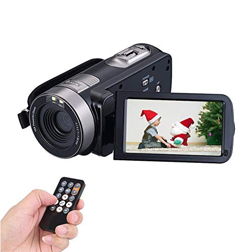Camcorder, Full HD, 1080 P, 24 MP, Videokamera, 16 x digitaler Zoom, Digitalkamera, 7,6 cm (3 Zoll) großes Display, HDMI-Ausgang, mit Fernbedienung