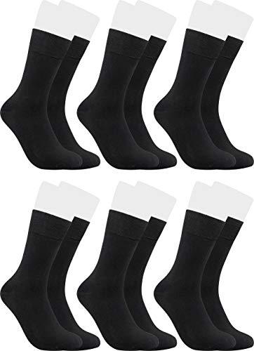RS. Harmony Socken aus Bambus, atmungsaktiv und weiches Tragegefühl, Alltags-Strumpf für Damen und Herren, 6 Paar, schwarz, 35-38