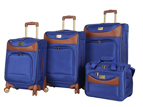 Caribbean Joe Luggage Castaway 4-Piece Spinner Suitcase Set (Royal Blue)