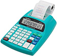 Printing Calculator with 12 Digit LCD Display Screen, 2.03 Lines/sec, Two Color Printing, Adding Machine for Accounting Use, AC Adapter Included (Light Blue)