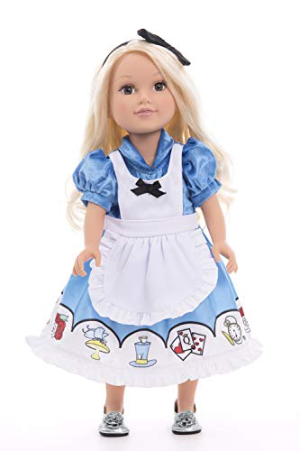 Little Adventures Alice with Headband Princess Doll Dress