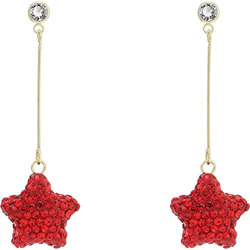 Stud Drop Dangle Earrings Jewelry for Girls Women Red Star Tassel Fashion Temperament Earrings gift idea for girlfriend/wife/daughter