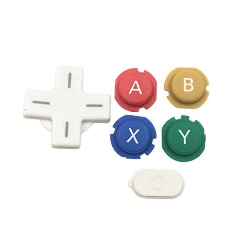 Haodasi Ersatz HandleGame Vorrichtung Taste Kits Modul ABXY D Auflage Zuhause Leistung für Nintendo Neue 3DS Konsole (Weiß)