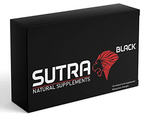 Sutra Black - 10 Capsule Pack - Natural Herbal Supplement for Men - Ginseng Capsules