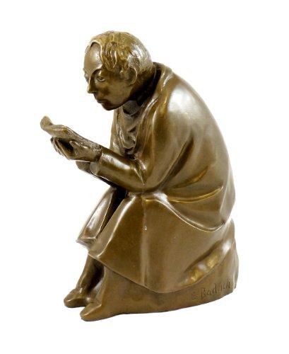 Kunst & Ambiente - Der Buchleser (1936) - Ernst Barlach Skulptur - Echte Bronze signiert - Bronzefigur Güstrow - Deko Figuren - Edel Statue