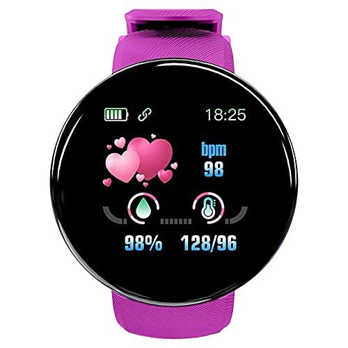 enjoymentlin - Reloj inteligente resistente al agua con monitor de ritmo cardíaco, monitor de calorías y sueño, morado,