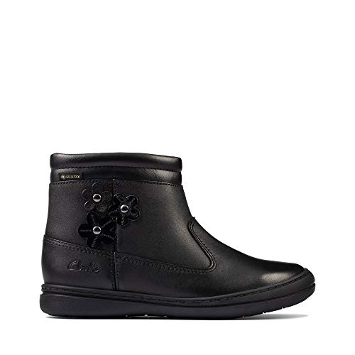 Clarks Scooter Go GORE-TEX Kid Black Leather