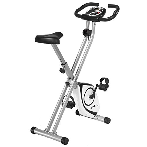 SportPlus X- Bike # Bicicleta Estática con Monitor de Frecuencia Cardíaca # Sistema de Frenos Magnético con 8 Niveles de Resistencia # MAX. Peso de Usuario 100 kg # Plegable