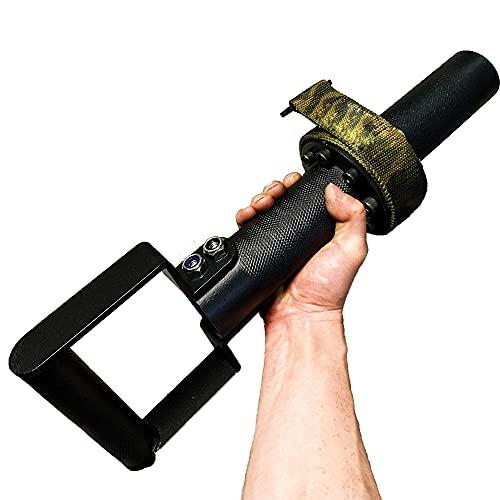 Mango de ejercicios lucha brazo, muñeca de antebrazo y deporte blaster, entrenamiento rotación de muñeca, acero al carbono, correas 1 m, cojinete 200 kg, para la llave gimnasia Bíceps Rotation Roller