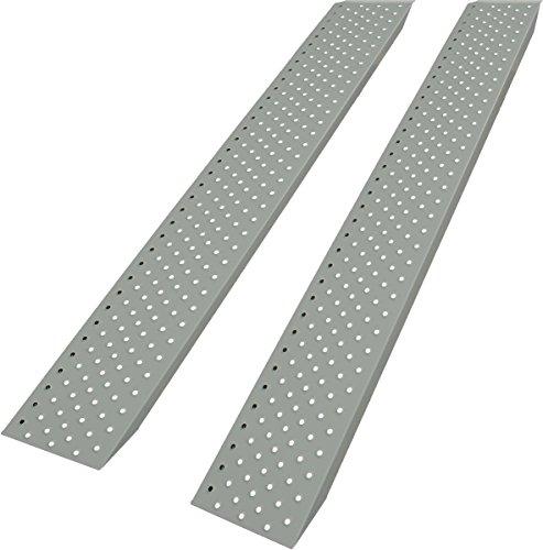 Auffahrrampe Stahl eloxiert, belastbar mit 200kg pro Rampe, Laderampe (2)