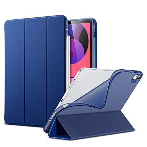 ESR Case for iPad Air 4 2020 10.9 inch, Slim Smart Case [Viewing/Typing Stand Modes] [Flexible TPU Back] Rebound Series, Blue