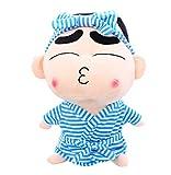 Yzhome Anime Crayon Shin-Chan Serie Cartoon Bademantel Haarband Plüschtier 35Cm, Kreative Und Niedliche Ragdoll, Kinder Urlaub