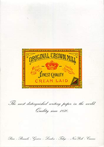 Original Crown Mill - Papel verjurado (50 unidades, A4, 100 g/m²), color blanco