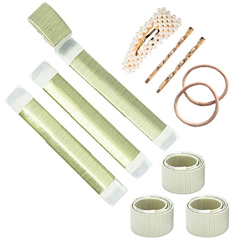 Bofekt Dutt Band Donut Maker für kinder, Haar Donuts Hairstyle Hilfe Hair Bun Maker Foam French Twist Magic DIY Styling Tools-3 pack(Blond)