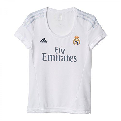 adidas 1ª Equipación Real Madrid CF - Camiseta Oficial Mujer, Talla L